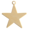 Metal Blank 24ga Brass Star 25mm With Hole  9 pieces